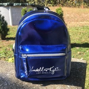 Kendall and Kylie Metallic Blue Mini Backpack Bag